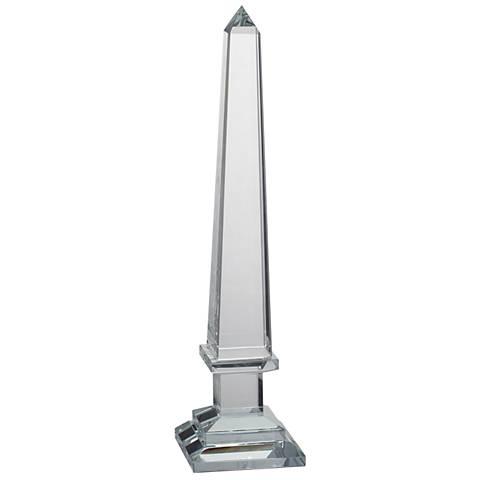 """Odille II 16"""" High Crystal Obelisk Sculpture"""