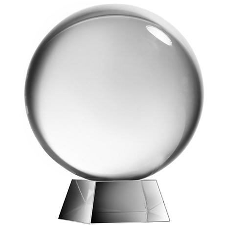 Society Chic Glass Sphere Decorative Sculpture