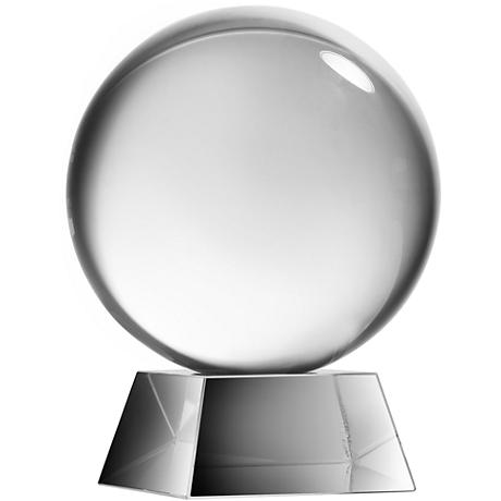 Society Chic Large Glass Sphere Decorative Sculpture