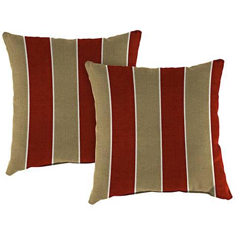 """Wickenburg Cherry 18"""" Square Indoor-Outdoor Pillow Set of 2"""