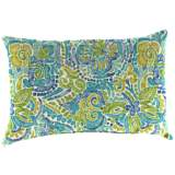 "Destiny Caribbean 18""x12""  Accent Indoor-Outdoor Pillow"