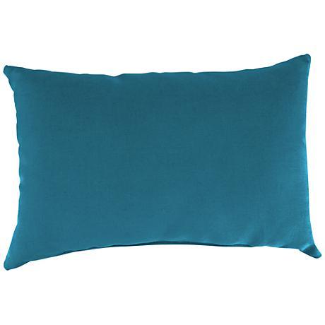 """Fresco Peacock 18""""x12"""" Outdoor Accent Pillow"""