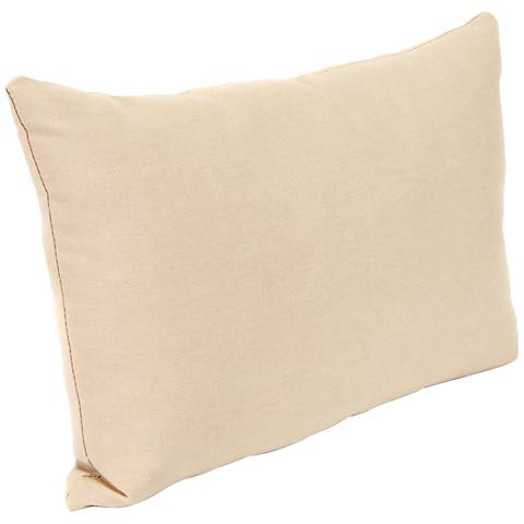"Classic Antique Beige 18""x12"" Outdoor Accent Pillow"