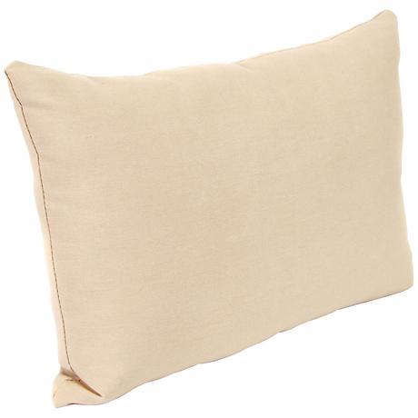 "Classic Antique Beige 18""x12"" Outdoor Accent Pillow"