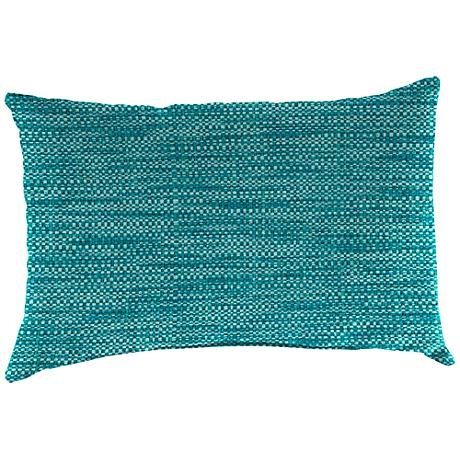 """Remi Lagoon Text 18""""x12"""" Outdoor Accent Pillow"""