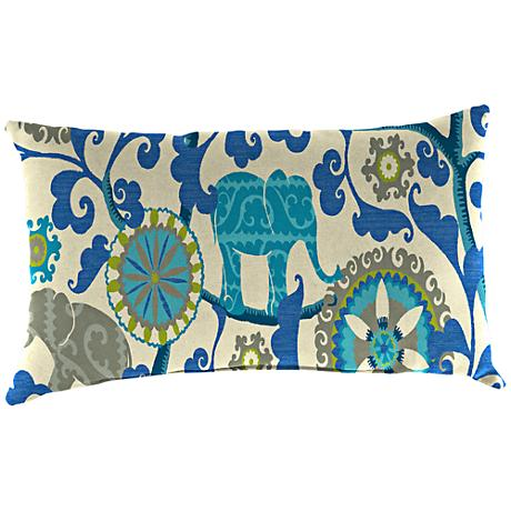 """Managerie Sapphire 18""""x12"""" Outdoor Accent Pillow"""