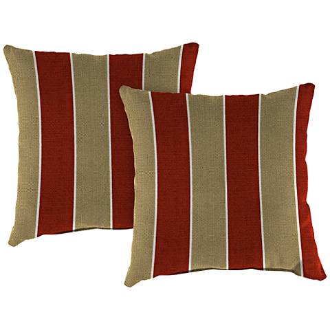 "Wickenburg Cherry 16"" Square Indoor-Outdoor Pillow Set of 2"