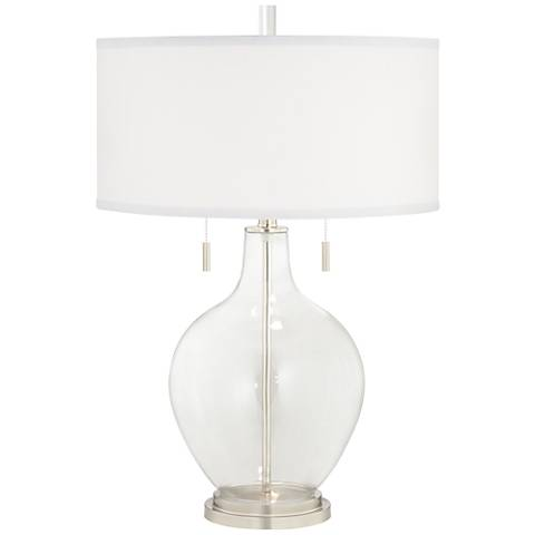 Clear Fillable Toby Table Lamp