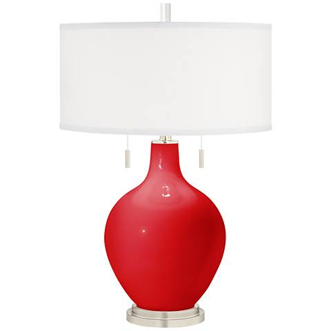Bright Red Toby Table Lamp