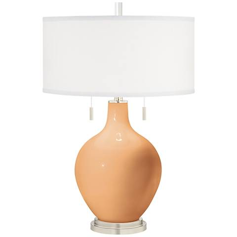 Soft Apricot Toby Table Lamp