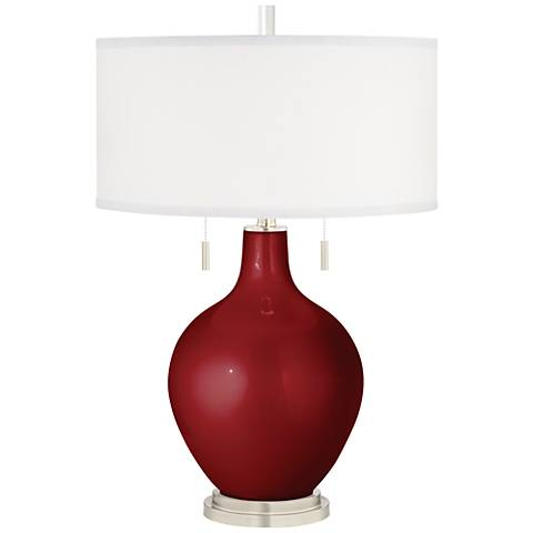 Cabernet Red Metallic Toby Table Lamp