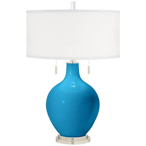 River Blue Toby Table Lamp