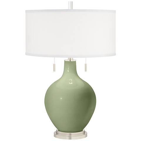 Majolica Green Toby Table Lamp