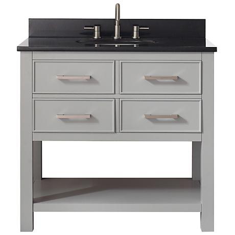 Avanity Brooks Black Granite-Top Gray Single-Sink Vanity