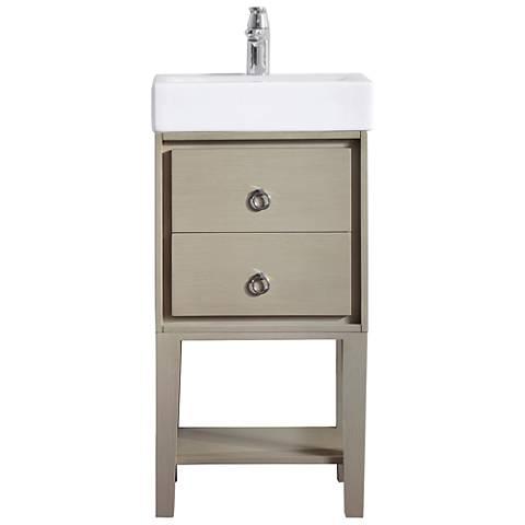 Avanity Kent Taupe Small White China Single Sink Vanity
