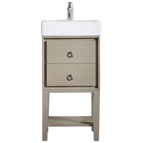 Avanity Kent Taupe Small White China Single Sink Vanity
