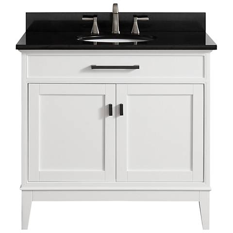 "Avanity Madison 37"" Granite-Top White Single Sink Vanity"