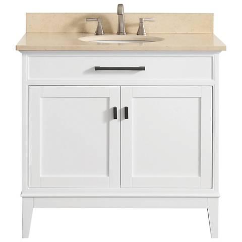 "Avanity Madison 37"" Galala-Top White Single Sink Vanity"