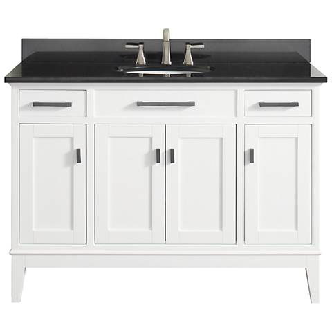 "Avanity Madison 49"" Granite-Top White Single Sink Vanity"