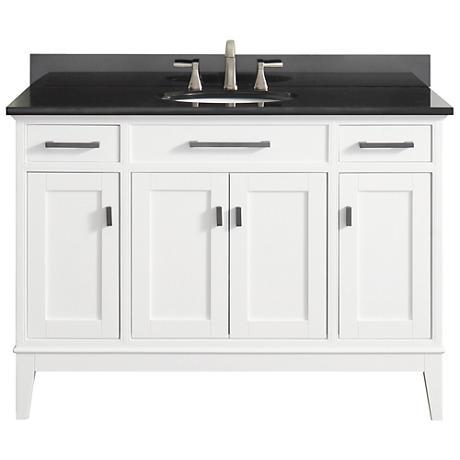 """Avanity Madison 49"""" Granite-Top White Single Sink Vanity"""