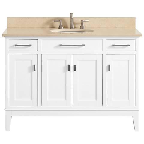 "Avanity Madison 49"" Galala-Top White Single Sink Vanity"