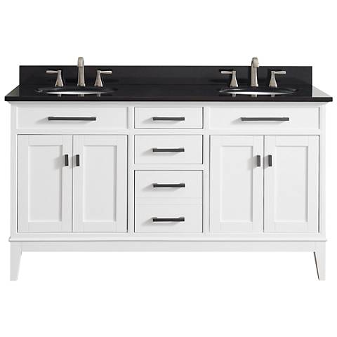 "Avanity Madison 61"" Granite-Top White Double Sink Vanity"