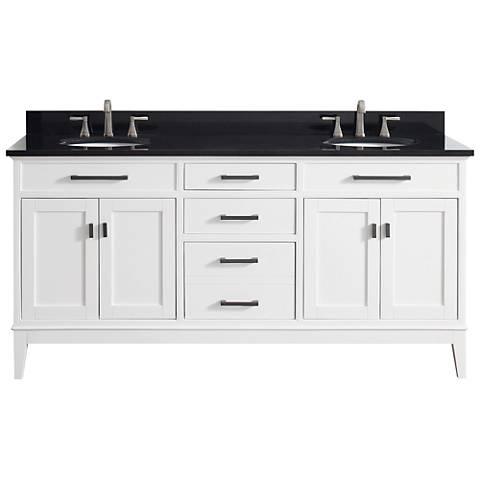 "Avanity Madison 73"" Granite-Top White Double Sink Vanity"