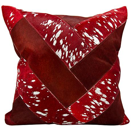 "Nourison Jersey Design 20"" Square Burgundy Silver Pillow"