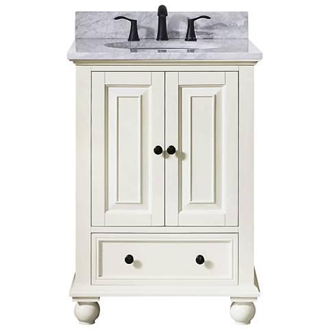 """Avanity Thompson White 25"""" Marble-Top Single Sink Vanity"""