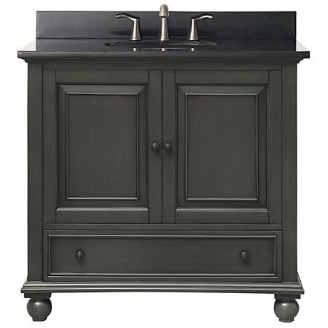 """Avanity Thompson Charcoal 37"""" Granite Single Sink Vanity"""