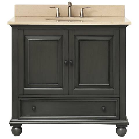 "Avanity Thompson Charcoal 37"" Galala Single Sink Vanity"