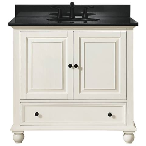"Avanity Thompson White 37"" Granite-Top Single Sink Vanity"