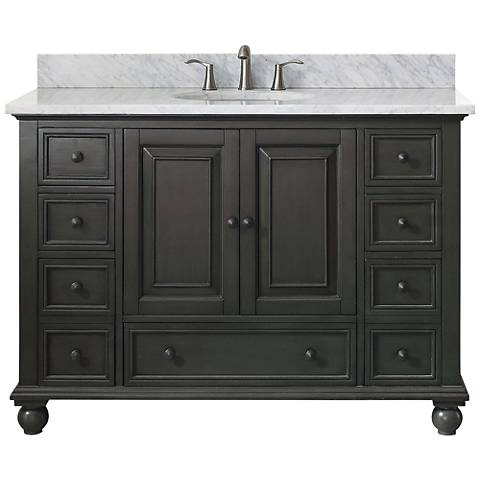 "Avanity Thompson Charcoal 49"" Marble Single Sink Vanity"