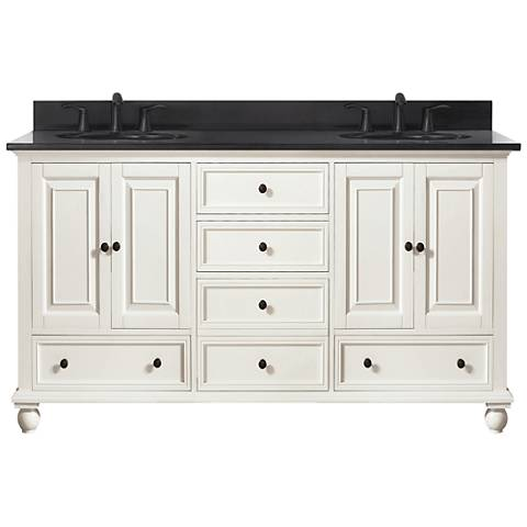"Avanity Thompson White 61"" Granite-Top Double Sink Vanity"
