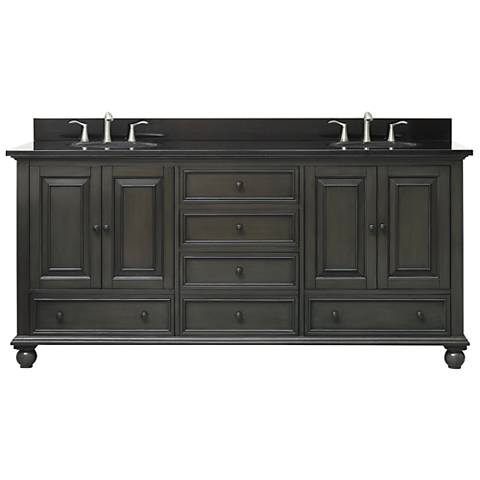 "Avanity Thompson Charcoal 73"" Granite Double Sink Vanity"