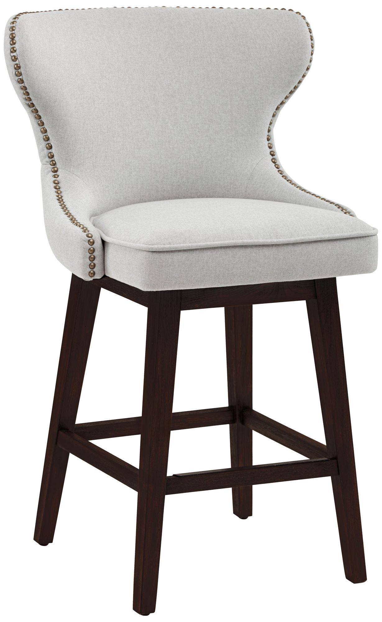 Ariana Light Gray Fabric 25 1/2  Swivel Counter Stool  sc 1 st  L&s Plus & Counter Height Stools - 24 In. to 27 In. Barstools | Lamps Plus islam-shia.org