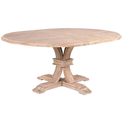 Traditions Devon Stone Wash Round Extension Dining Table