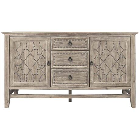 Traditions Braxton Gray Wash 3-Drawer Sideboard