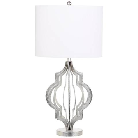 Belvoir Silver Leaf Moroccan Metal Table Lamp