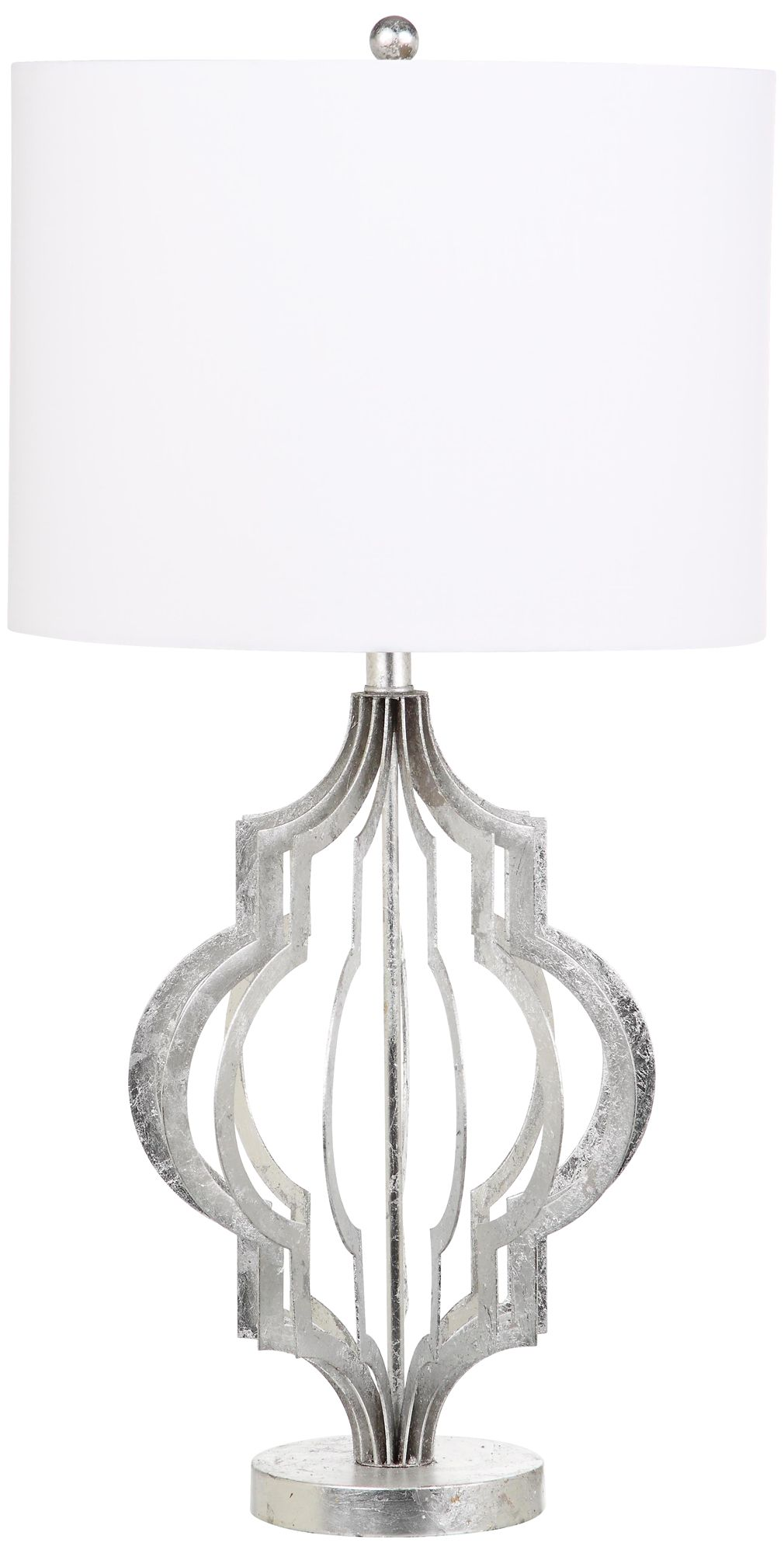 Belvoir Silver Leaf Moroccan Metal Table Lamp