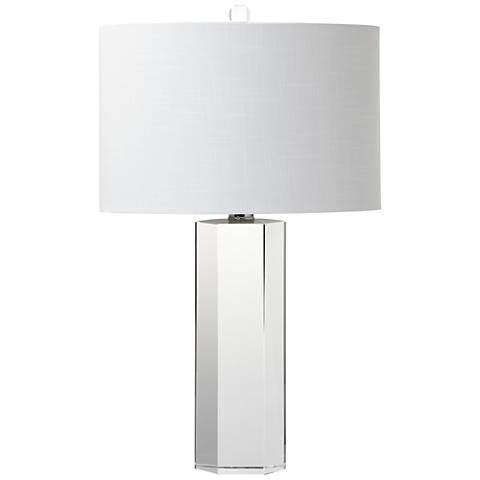 Dunwich Clear Hexagonal Crystal Table Lamp