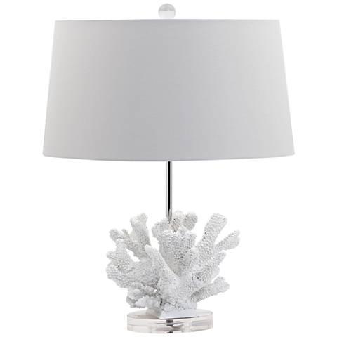 Chirbury White Coral Bloom Table Lamp