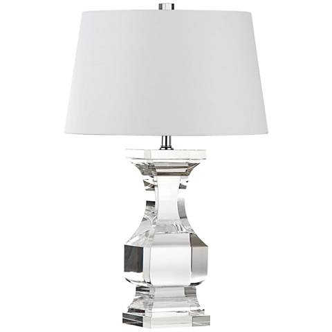 Vecciano Crystal Clear Balustrade Table Lamp