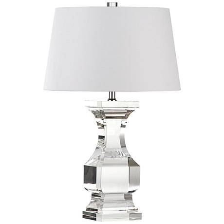 vecciano crystal clear balustrade table lamp 1n659. Black Bedroom Furniture Sets. Home Design Ideas