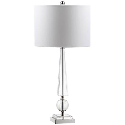 Lorenzana Obelisk Crystal Table Lamp