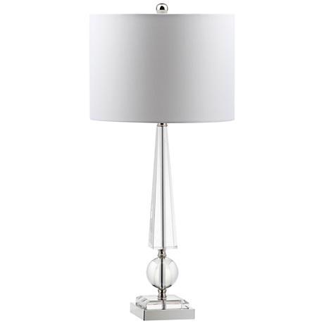 lorenzana obelisk crystal table lamp 1n663 lamps plus. Black Bedroom Furniture Sets. Home Design Ideas