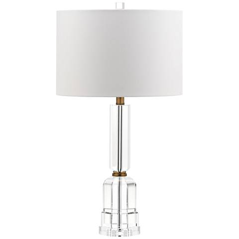 Casalina Antique Brass Solid Crystal Table Lamp