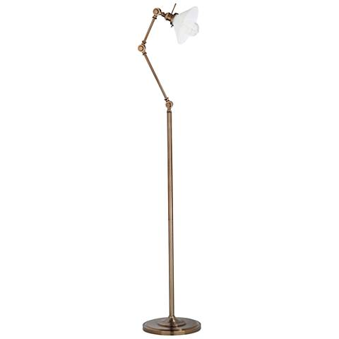 Cecilton Soft Brass Adjustable Floor Lamp