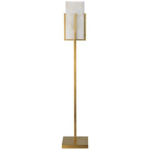 Jamie Young Brass Ghost Stand Alabaster Floor Lamp