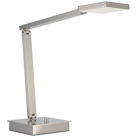TaskWerx Brushed Steel Adjustable Urban LED Task Desk Lamp